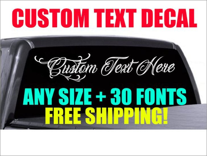 Custom Truck Window Decals