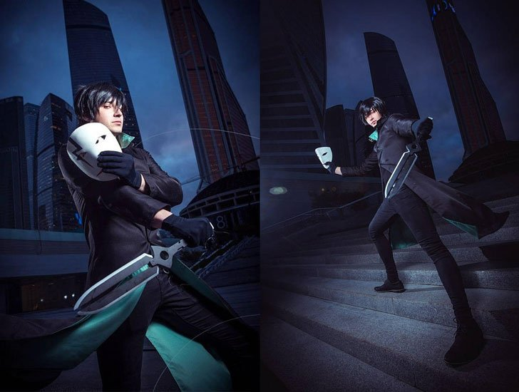 Darker Than Black Hei Cosplay Set