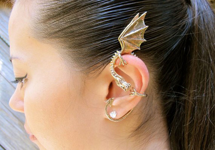 Dragon Ear Cuff Earrings