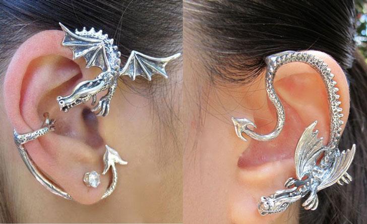 Dragon Ear Cuff Earrings