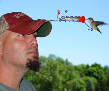 Hummingbird Hat Feeders