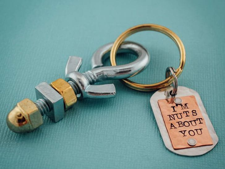 I'm Nuts about You Keychain