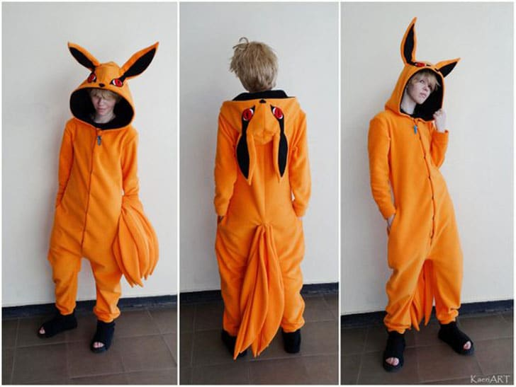Kurama Kigu~ Kyuubi Tailed Beast From Naruto Anime Costume