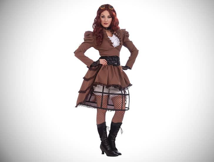 Ladies Steampunk Vicky Hoop Skirt