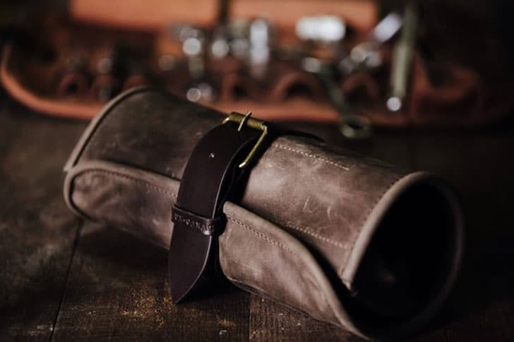Leather Tool Roll Handcrafted Car Accessories by Kruk Garage