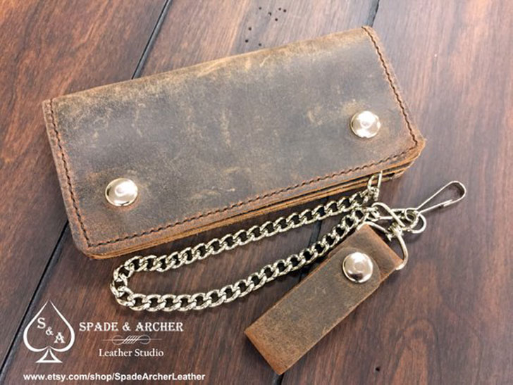 Leather Trucker Wallet