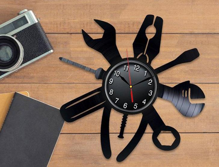 Mechanic Gifts Vinyl Clock