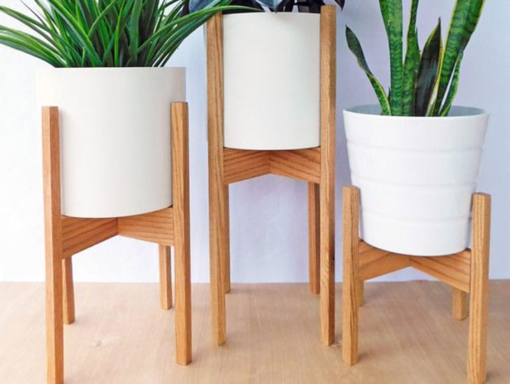 Mid Century Plant Stands