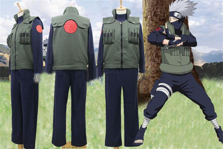 Naruto Hatake Kakashi Anime Cosplay Costume