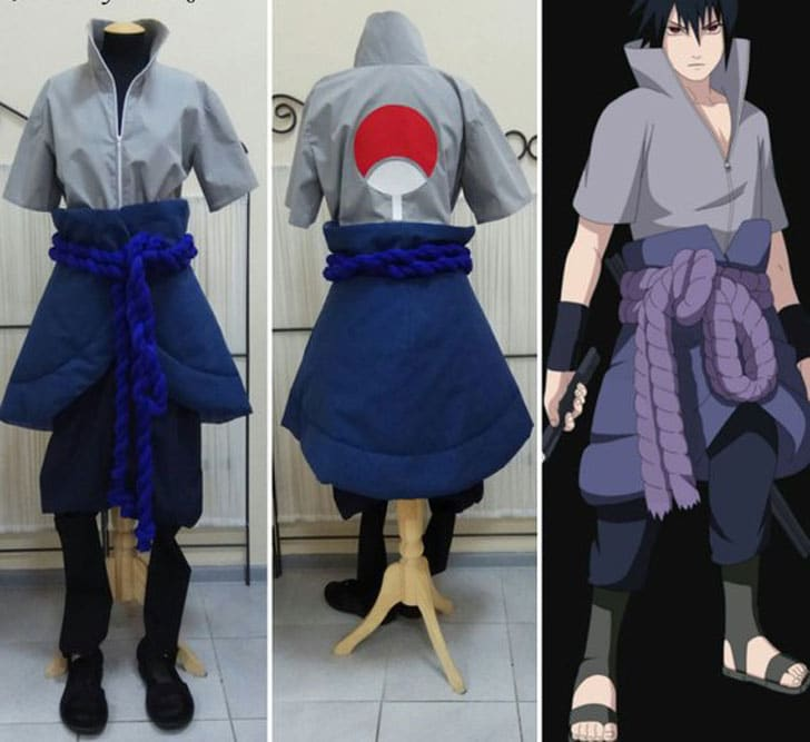 Naruto Sasuke Uchiha Anime Costume - Men's Anime Costumes For Guys