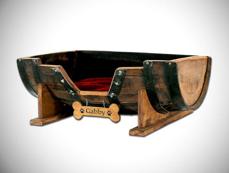 Personalized Barrel Dog Beds