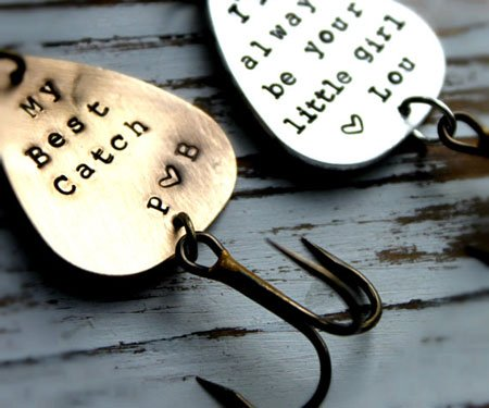 Personalized Hand Stamped Fishing Lures