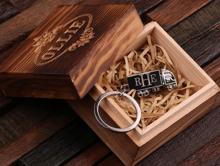 Personalized Monogrammed Truck Driver Key Chain