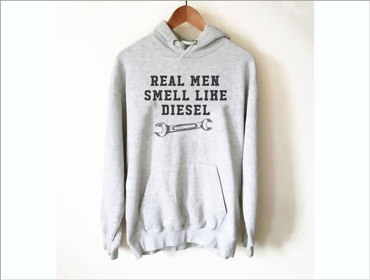 Real Men Smell Like Diesel Mechanic Hoodie