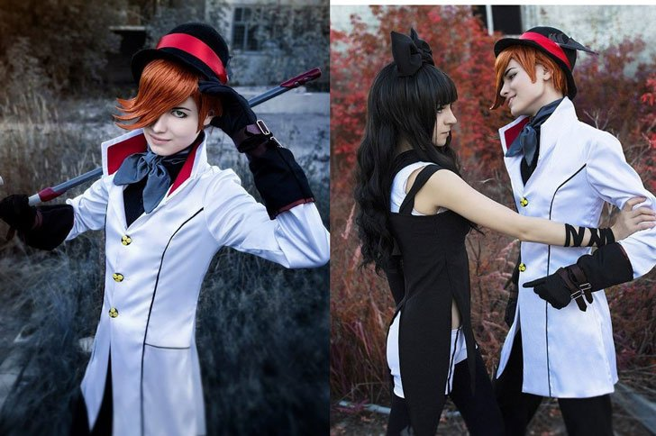 Roman Torchwick Handmade Cosplay Jacket - Men's Anime Costumes For Guys