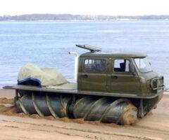 Screw-Propelled Platform Vehicle