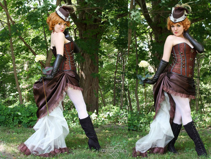 Steampunk Gaslight Pinup Bustle Costume
