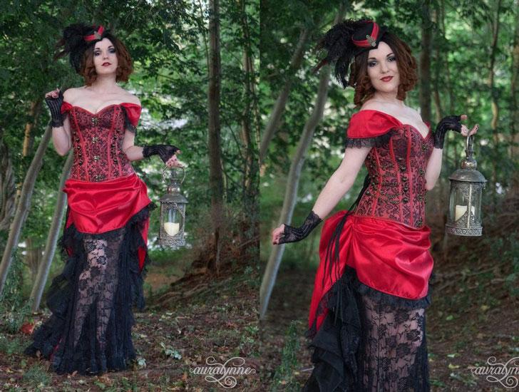 Steampunk Victorian Western Women's Costume