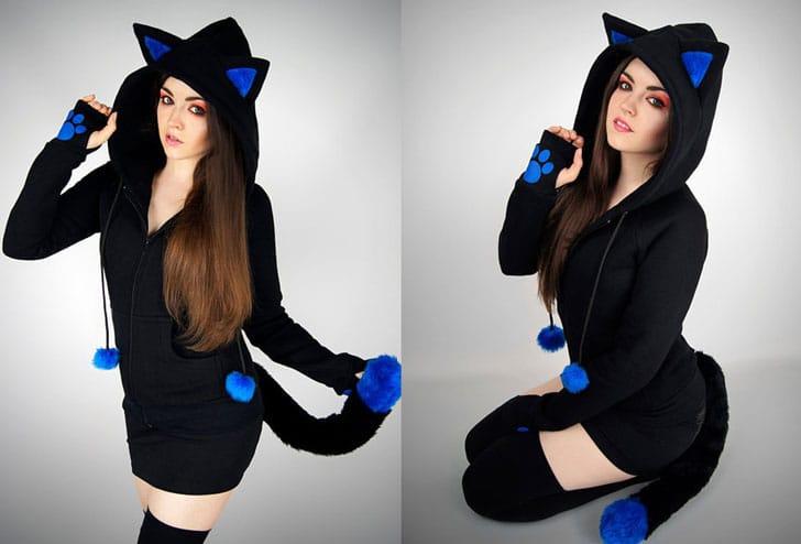 Tail & Ears Cat Hoodie
