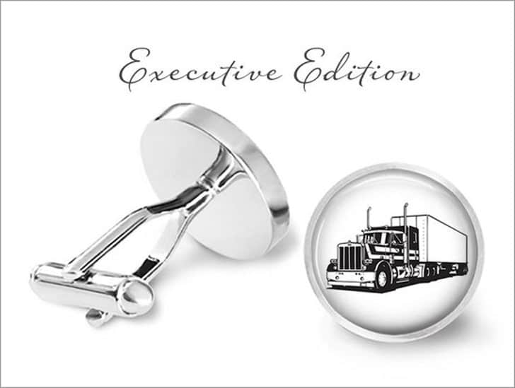 Truck Driver Cuff Links - gifts for truck drivers