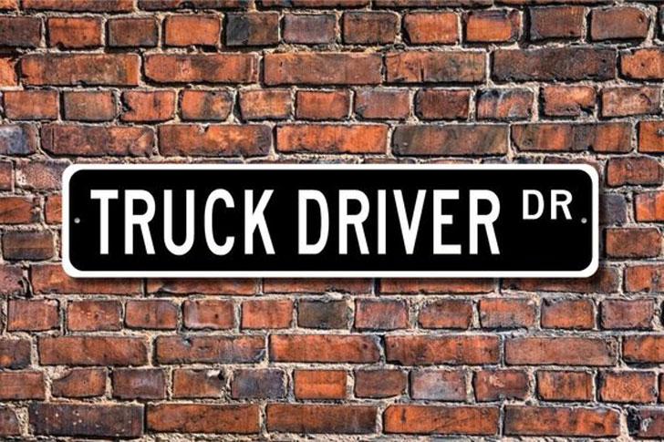 Truck Driver Dr Custom Street Sign