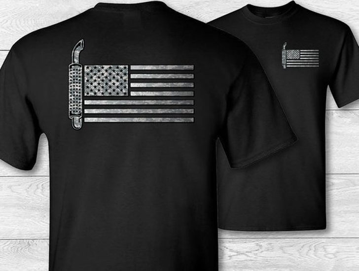 Trucker American Flag T-shirt
