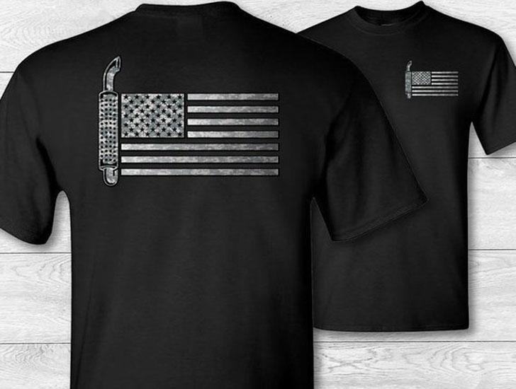 Trucker American Flag T-shirt