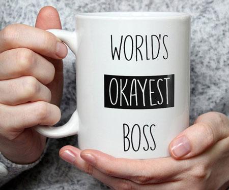 Worlds Okayest Boss Mug