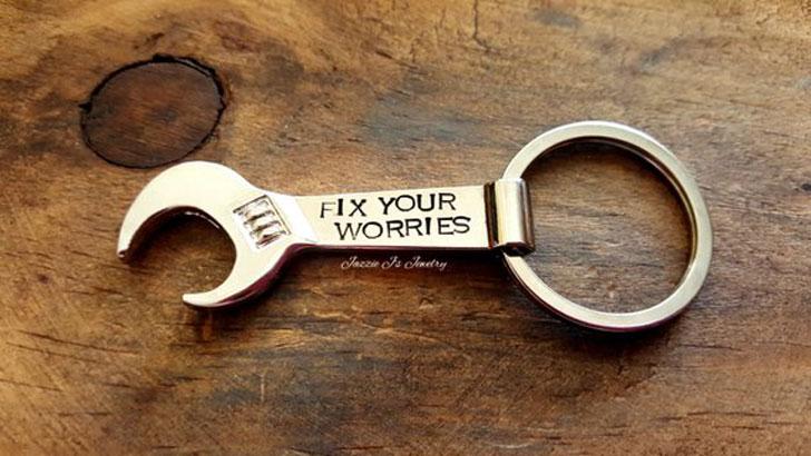Wrench Bottle Opener Keychain