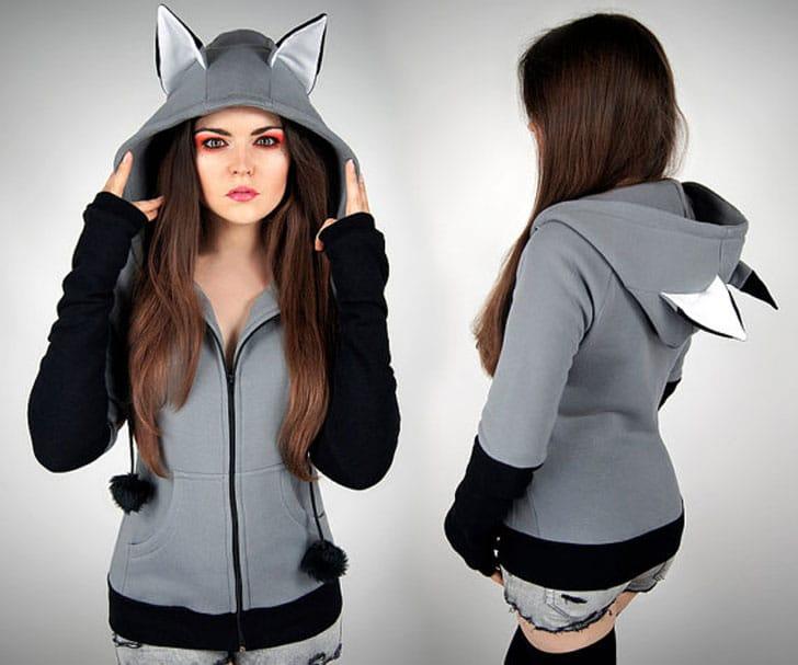 wolf hoodie