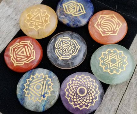 8-Piece Chakra Healing Stone Set