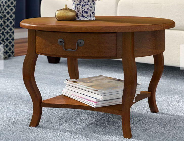 Apple Valley Round Coffee Table with storage