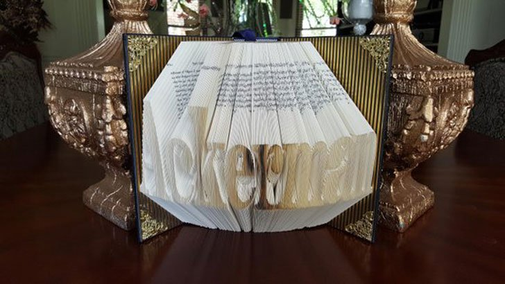 Attorney Folded Book Art