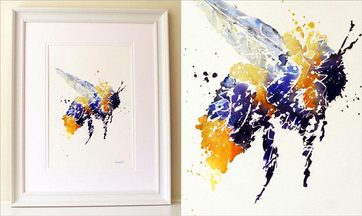 Buzz BEE Watercolour