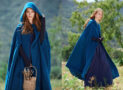 Cashmere Hooded Coat Cloaks