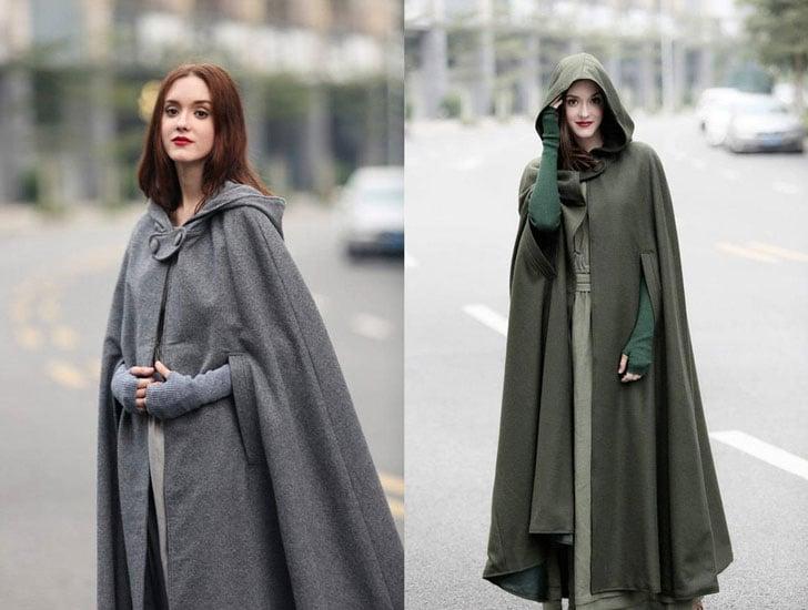 Cashmere Hooded Coat Cloaks