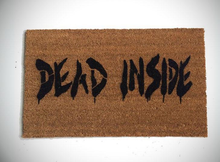 Dead Inside Zombie Walking Dead Doormat