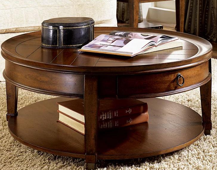 Fitzhugh Round Coffee Table with Storage