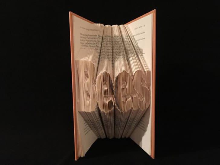 Folded Book Art Beekeepers Gift