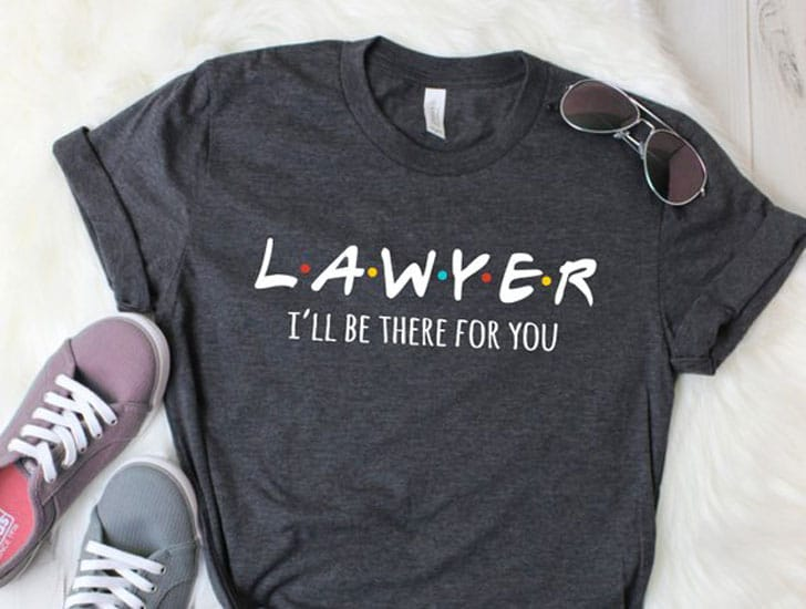 Friends TV Sitcom - I'll Be There For You Women's Lawyer Shirt