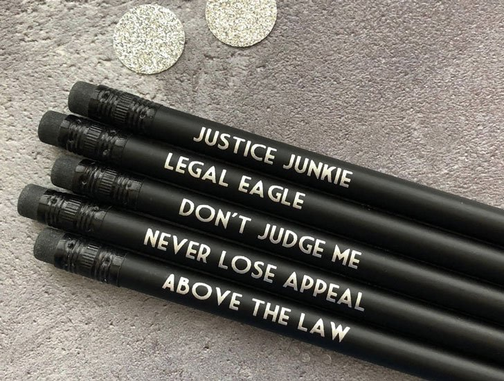 Funny Lawyer Pencil Set