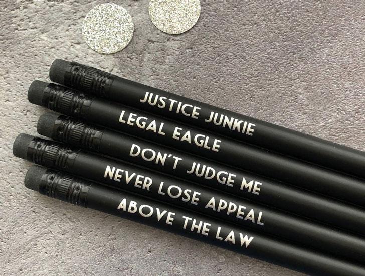Funny Lawyer Pencil Set