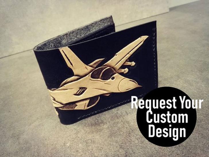 Handmade Custom Leather Aviation Wallet