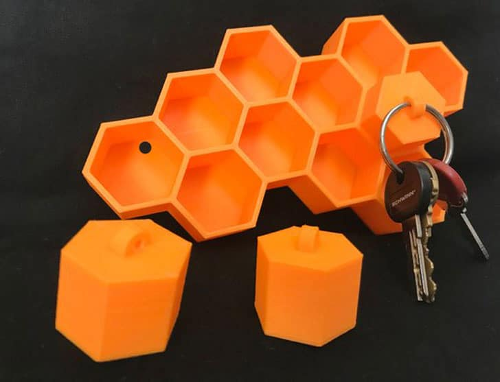 Hexagon Honeycomb Shelf Key Holders