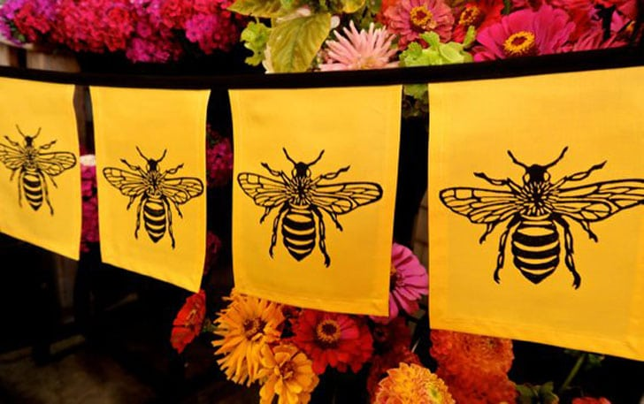 Honey Bee Garden Flags