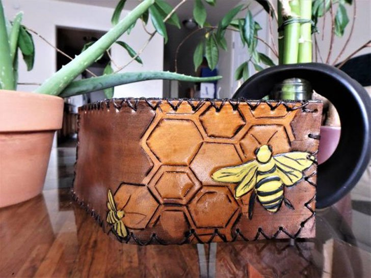 Honeycomb Bee Wallet