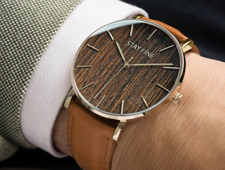 Hudson Luxury Minimalist Wood Watch