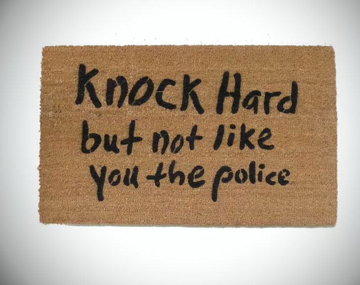 Knock Hard Doormat