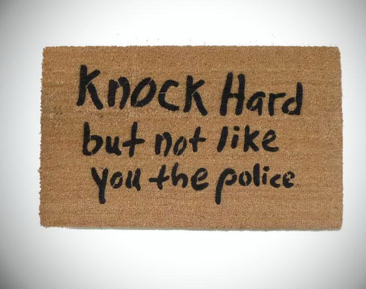 Knock Hard Doormat