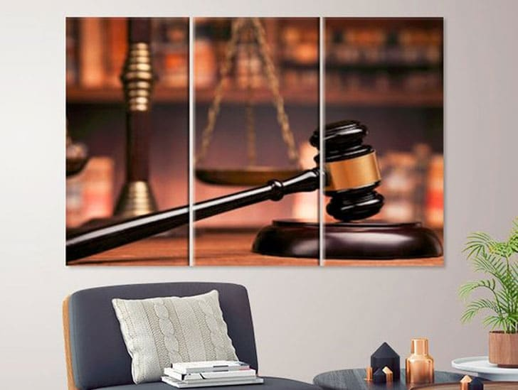 Law Canvas Print – Gift for Lawyers Office - Gifts for Lawyers
